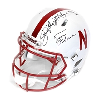 Tom Osborne N Johnny Rodgers Autographed Speed Helmet Nebraska Cornhuskers, husker football, nebraska cornhuskers merchandise, husker merchandise, nebraska merchandise, husker memorabilia, husker autographed, nebraska cornhuskers autographed, Tom Osborne autographed, Tom Osborne signed, Tom Osborne collectible, Tom Osborne, nebraska cornhuskers memorabilia, nebraska cornhuskers collectible,