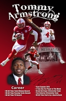 Tommy Armstrong Jr. Autographed Career Print Nebraska Cornhuskers, Nebraska  Former Players, Huskers  Former Players, Nebraska  Photos Prints & Posters, Huskers  Photos Prints & Posters, Nebraska  Prints & Posters, Huskers  Prints & Posters, Nebraska Armstrong Jr Autographed Career Print, Huskers Armstrong Jr Autographed Career Print