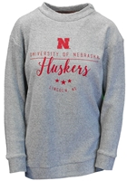 U of N Huskers Lushes Terry Crew Nebraska Cornhuskers, Nebraska  Ladies Sweatshirts, Huskers  Ladies Sweatshirts, Nebraska  Ladies, Huskers  Ladies, Nebraska Gray LS Finley Terry Sweatshirt PB, Huskers Gray LS Finley Terry Sweatshirt PB