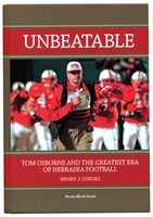 Tom Osborne Unbeatable Nebraska cornhuskers, husker football, nebraska cornhuskers merchandise, nebraska cornhuskers books, Tom Osborne book, Unbeatable: Tom Osborne and the Greatest Era of Nebraska Football, nebraska books, husker books