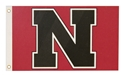 Red and Black Color Block Flag Nebraska Cornhuskers, Nebraska  Tailgating, Huskers  Tailgating, Nebraska  Flags & Windsocks, Huskers  Flags & Windsocks, Nebraska UNL Cornhuskers Flag, Huskers UNL Cornhuskers Flag