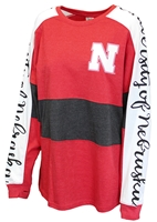 University of Nebraska Aileron Sweeper LS Tee Nebraska Cornhuskers, Nebraska  Ladies T-Shirts, Huskers  Ladies T-Shirts, Nebraska  Ladies Tops, Huskers  Ladies Tops, Nebraska Block W Aileron Sweeper LS Tee PB, Huskers Block W Aileron Sweeper LS Tee PB