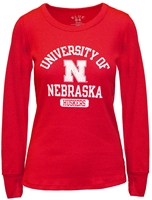 University of Nebraska Ladies Thermal Tee Nebraska Cornhuskers, Nebraska  Ladies T-Shirts, Huskers  Ladies T-Shirts, Nebraska  Ladies, Huskers  Ladies, Nebraska  Ladies Tops, Huskers  Ladies Tops, Nebraska Red LS W Thermal Tee B84, Huskers Red LS W Thermal Tee B84