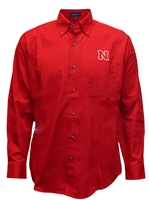 Husker Twill Dress Shirt Nebraska Cornhuskers, Nebraska  Mens Polos, Huskers  Mens Polos, Nebraska Polos, Huskers Polos, Nebraska Vantage Mens Twill Dress Shirt, Huskers Vantage Mens Twill Dress Shirt