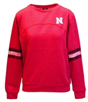 Varsity Stripes Nebraska Pullover Nebraska Cornhuskers, Nebraska  Ladies Sweatshirts, Huskers  Ladies Sweatshirts, Nebraska  Crew, Huskers  Crew, Nebraska  Ladies, Huskers  Ladies, Nebraska Red W Fleece Stripe Sleeve Pullover Crew Col, Huskers Red W Fleece Stripe Sleeve Pullover Crew Col