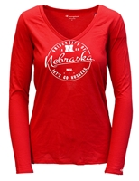 Womens LS V-Neck Circle Tee Nebraska Cornhuskers, Nebraska  Ladies T-Shirts, Huskers  Ladies T-Shirts, Nebraska  Ladies Tops, Huskers  Ladies Tops, Nebraska  Ladies, Huskers  Ladies, Nebraska  Long Sleeve, Huskers  Long Sleeve, Nebraska W RD LS CIRCLE GRAPHIC CREW CHAMPION  Womens LS V-Neck Circle Tee, Huskers W RD LS CIRCLE GRAPHIC CREW CHAMPION  Womens LS V-Neck Circle Tee