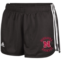 WOMENS BLACK MESH SHORT Nebraska Cornhuskers, husker football, nebraska cornhuskers merchandise, nebraska merchandise, husker merchandise, nebraska cornhuskers apparel, husker apparel, nebraska apparel, husker womens apparel, nebraska cornhuskers womens apparel, nebraska womens apparel, husker womens merchandise, nebraska cornhuskers womens merchandise, womens nebraska shorts and pants, womens husker shorts and pants, womens nebraska cornhusker shorts and pants, Womens Black Mesh Short