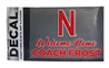 Welcome Home Frost Decal Nebraska Cornhuskers, Nebraska Stickers Decals & Magnets, Huskers Stickers Decals & Magnets, Nebraska Welcome Home Coach Frost, Huskers Welcome Home Coach Frost, Nebraska Welcome Home Frost Decal, Huskers Welcome Home Frost Decal