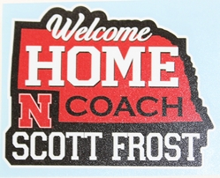 Welcome Home Frost State Decal Nebraska Cornhuskers, Nebraska Vehicle, Huskers Vehicle, Nebraska Stickers Decals & Magnets, Huskers Stickers Decals & Magnets, Nebraska Huskers Helmet 4 Inch Decal, Huskers Huskers Helmet 4 Inch Decal