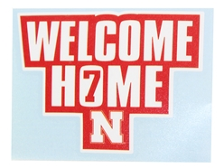 Welcome Home Nebraska 7 Decal Nebraska Cornhuskers, Nebraska Vehicle, Huskers Vehicle, Nebraska Stickers Decals & Magnets, Huskers Stickers Decals & Magnets, Nebraska Huskers Helmet 4 Inch Decal, Huskers Huskers Helmet 4 Inch Decal