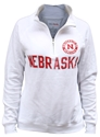 Womens White Quarter Zip Sweatshirt Nebraska Cornhuskers, Nebraska  Ladies Sweatshirts, Huskers  Ladies Sweatshirts, Nebraska  Ladies, Huskers  Ladies, Nebraska  Zippered, Huskers  Zippered, Nebraska Womens White Quarter Zip Sweatshirt, Huskers Womens White Quarter Zip Sweatshirt