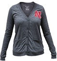 Womens Black Cardigan with Red N Nebraska Cornhuskers, Nebraska  Ladies Tops, Huskers  Ladies Tops, Nebraska  Ladies Sweatshirts, Huskers  Ladies Sweatshirts, Nebraska  Ladies, Huskers  Ladies, Nebraska Womens Black Cardigan w/ Red N, Huskers Womens Black Cardigan w/ Red N