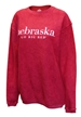 Womens Go Big Red Corded Comfy Crew - AS-B5115