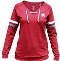 Womens L/S Laceup Pullover Sweatshirt Nebraska Cornhuskers, Nebraska  Ladies, Huskers  Ladies, Nebraska  Ladies Sweatshirts, Huskers  Ladies Sweatshirts, Nebraska  Ladies Tops, Huskers  Ladies Tops, Nebraska Womens L/S Laceup Pullover Sweatshirt, Huskers Womens L/S Laceup Pullover Sweatshirt
