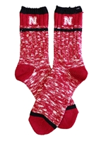 Womens Nebraska Alpine Peak Sock Nebraska Cornhuskers, Nebraska  Footwear, Huskers  Footwear, Nebraska  Underwear & PJs, Huskers  Underwear & PJs, Nebraska  Ladies Accessories, Huskers  Ladies Accessories, Nebraska Womens Nebraska Alpine Peak Sock, Huskers Womens Nebraska Alpine Peak Sock