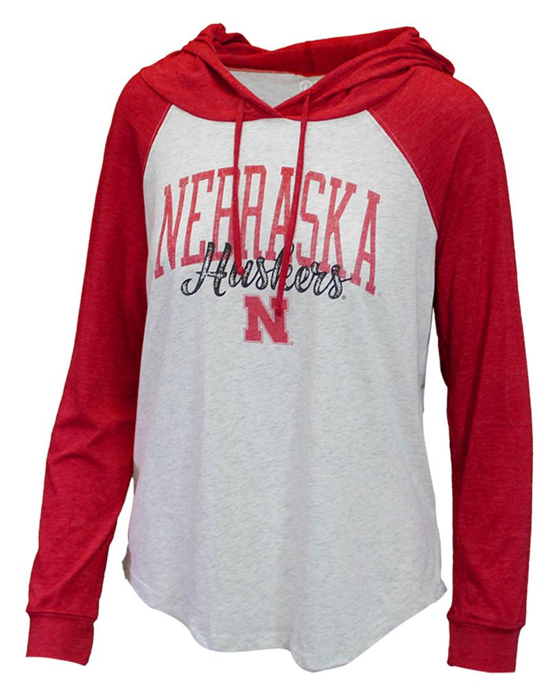 Womens Nebraska Huskers Raglan Hoodie - AT-B6238 ... 590f41d34