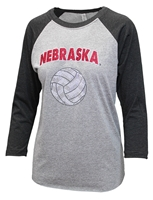 Womens Nebraska Volleyball Bling Raglan Nebraska Cornhuskers, Nebraska  Ladies T-Shirts, Huskers  Ladies T-Shirts, Nebraska  Ladies, Huskers  Ladies, Nebraska  Ladies Tops, Huskers  Ladies Tops, Nebraska Volleyball, Huskers Volleyball, Nebraska  Long Sleeve, Huskers  Long Sleeve, Nebraska Womens Nebraska Volleyball Bling Raglan, Huskers Womens Nebraska Volleyball Bling Raglan