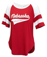 Womens Piko Nebraska Volleyball Top Nebraska Cornhuskers, Nebraska  Ladies Tops, Huskers  Ladies Tops, Nebraska  Ladies T-Shirts, Huskers  Ladies T-Shirts, Nebraska  Ladies, Huskers  Ladies, Nebraska Volleyball, Huskers Volleyball, Nebraska Womens Piko Nebraska Volleyball Top, Huskers Womens Piko Nebraska Volleyball Top