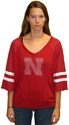 Womens White and Red Meshey Tee Nebraska Cornhuskers, Nebraska  Womens Jerseys, Huskers  Womens Jerseys, Nebraska  Ladies Jerseys, Huskers  Ladies Jerseys, Nebraska  Ladies Tops, Huskers  Ladies Tops, Nebraska  Ladies T-Shirts, Huskers  Ladies T-Shirts, Nebraska Womens White and Red Meshey Tee, Huskers Womens White and Red Meshey Tee