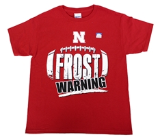 Youth Frost Warning Tee Nebraska Cornhuskers, Nebraska  Youth, Huskers  Youth, Nebraska  Kids, Huskers  Kids, Nebraska  Short Sleeve, Huskers  Short Sleeve, Nebraska Youth Frost Warning Tee, Huskers Youth Frost Warning Tee