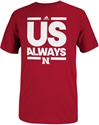 Adidas US Always Tee Nebraska Cornhuskers, Nebraska  Mens T-Shirts, Huskers  Mens T-Shirts, Nebraska  Mens, Huskers  Mens, Nebraska  Basketball, Huskers  Basketball, Nebraska  Short Sleeve, Huskers  Short Sleeve, Nebraska Adidas US Always Tee, Huskers Adidas US Always Tee