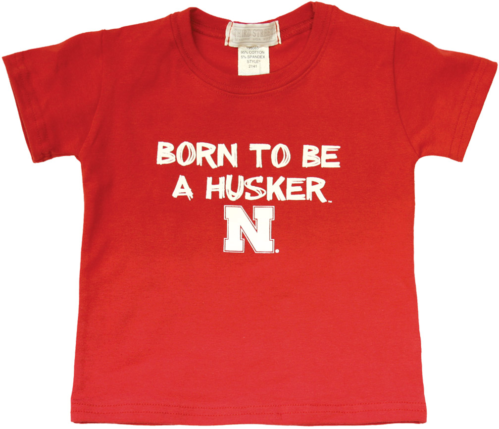 3ST BORN TO BE RED INFANT TEE Nebraska Cornhuskers, husker football, nebraska cornhuskers merchandise, nebraska merchandise, husker merchandise, nebraska cornhuskers apparel, husker apparel, nebraska apparel, husker infant and toddler apparel, nebraska cornhuskers infant and toddler apparel, nebraska kids apparel, husker kids apparel, husker kids merchandise, nebraska cornhuskers kids merchandise,Born To Be A Husker Red Infant T-shirt