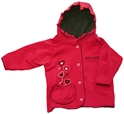 3ST RUFFLE HOOD RED JKT HEARTS Nebraska Cornhuskers, husker football, nebraska cornhuskers merchandise, nebraska merchandise, husker merchandise, nebraska cornhuskers apparel, husker apparel, nebraska apparel, husker childrens apparel, nebraska cornhuskers childrens apparel, nebraska kids apparel, husker kids apparel, husker kids merchandise, nebraska cornhuskers kids merchandise,Ruffle Hood Red Jacket Pocket Hearts