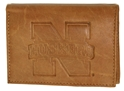 TAN LEATHER TRI-FOLD WALLET NEW LOGO Nebraska Cornhuskers, husker football, nebraska cornhuskers merchandise, nebraska merchandise, husker merchandise, nebraska cornhuskers apparel, husker apparel, nebraska apparel, husker mens apparel, nebraska cornhuskers mens apparel, nebraska mens apparel, husker mens merchandise, nebraska cornhuskers mens merchandise, mens nebraska accessories, mens husker accessories, mens nebraska cornhusker accessories,N Huskers Leather Billfold