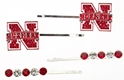 Hair Pin Set Nebraska Cornhuskers, Nebraska Accessories, Huskers Accessories, Nebraska  Jewelry & Hair, Huskers  Jewelry & Hair, Nebraska  Ladies, Huskers  Ladies, Nebraska Womens, Huskers Womens, Nebraska  Ladies Accessories, Huskers  Ladies Accessories, Nebraska  Accessories , Huskers  Accessories , Nebraska Hair Pin Set, Huskers Hair Pin Set