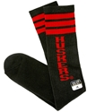 Adidas Black and Red Stripped Tube Sock Nebraska Cornhuskers, Nebraska Accessories, Huskers Accessories, Nebraska  Footwear, Huskers  Footwear, Nebraska Game Day, Huskers Game Day, Nebraska Adidas Black and Red Striped Tube Sock, Huskers Adidas Black and Red Stripped Tube Sock