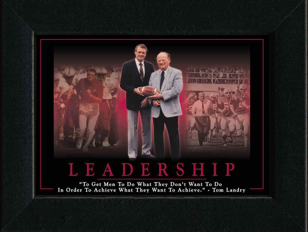 Leadership Framed Nebraska Cornhuskers, Leadership Framed
