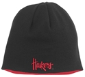 AD BL REVERSIBLE KNIT HAT husker football, nebraska merchandise, husker merchandise, nebraska cornhuskers apparel, husker apparel, nebraska apparel, husker hats, nebraska hats, nebraska caps, husker caps, Nebraska Cornhuskers, Adidas Bl Reversible Knit