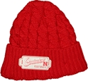 N ERA W. RED KNIT CHUNKY PATCH HAT husker football, nebraska merchandise, husker merchandise, nebraska cornhuskers apparel, husker apparel, nebraska apparel, husker hats, nebraska hats, nebraska caps, husker caps, Nebraska Cornhuskers, New Era Womens Red Knit Chunky Patch