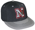 BLK HAT RED 3D EMBROID TOW husker football, nebraska merchandise, husker merchandise, nebraska cornhuskers apparel, husker apparel, nebraska apparel, husker hats, nebraska hats, nebraska caps, husker caps, Nebraska Cornhuskers, Red Iron N 3D Embroidery Black Hat
