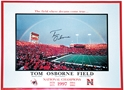 Osborne Autog Rainbow Poster Nebraska Cornhuskers, husker football, nebraska cornhuskers merchandise, husker merchandise, nebraska merchandise, husker memorabilia, husker autographed, nebraska cornhuskers autographed, Tom Osborne autographed, Tom Osborne signed, Tom Osborne collectible, Tom Osborne, nebraska cornhuskers memorabilia, nebraska cornhuskers collectible, Autographed Rainbow Poster