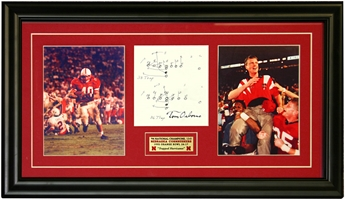 Trapped Hurricanes Plaque Nebraska Cornhuskers, husker football, nebraska cornhuskers merchandise, husker merchandise, nebraska merchandise, husker memorabilia, husker autographed, nebraska cornhuskers autographed, Tom Osborne autographed, Tom Osborne signed, Tom Osborne collectible, Tom Osborne, nebraska cornhuskers memorabilia, nebraska cornhuskers collectible,  Trapped Hurricanes