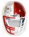 SWITZER/OSBORNE OU/NU FULL SIZE AUTOGRAPHED HELMET Nebraska Cornhuskers, Osborne helmet, Switzer helmet, Osborne Switzer football helmet, husker football, nebraska cornhuskers merchandise, husker merchandise, nebraska merchandise, husker memorabilia, husker autographed, nebraska cornhuskers autographed, Tom Osborne autographed, Tom Osborne signed, Tom Osborne collectible, Tom Osborne, nebraska cornhuskers memorabilia, nebraska cornhuskers collectible, Tom Osborne Tribute Football