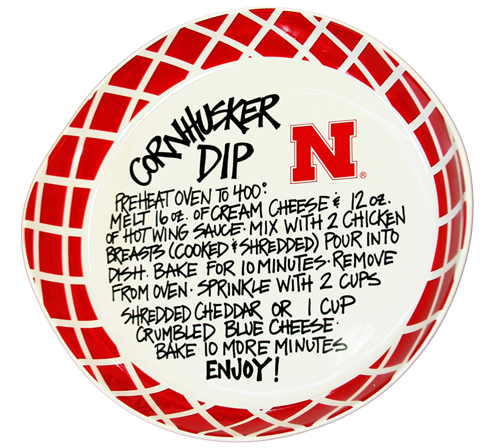 Magnolia Lane Dip Recipe Bowl Nebraska Cornhuskers, Nebraska  Tailgating, Huskers  Tailgating, Nebraska  Kitchen & Glassware, Huskers  Kitchen & Glassware, Nebraska Magnolia Lane Dip Recipe Bowl, Huskers Magnolia Lane Dip Recipe Bowl