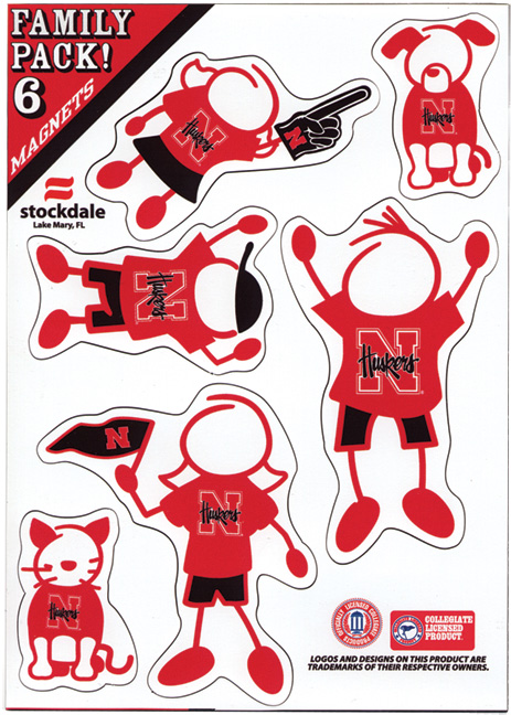 Husker Family Magnet Set Nebraska Cornhuskers, Family Pack of Husker Magnets