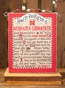 Glory Haus Beaded How To Canvas 8-inch by 10-inch Nebraska Cornhuskers, Glory Haus Beaded How To Canvas 8-inch by 10-inch