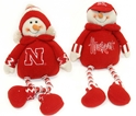 2 Pack Husker Button Leg Snowmen Nebraska Cornhuskers, Nebraska  Holiday Items, Huskers  Holiday Items, Nebraska  Bedroom & Bathroom, Huskers  Bedroom & Bathroom, Nebraska Kids, Huskers Kids, Nebraska 2 Pack Husker Button Leg Snowmen, Huskers 2 Pack Husker Button Leg Snowmen