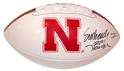 Crouch Embossed Autograph Ball Nebraska Cornhuskers, Nebraska One of a Kind, Huskers One of a Kind, Nebraska Crouch Embossed Autograph Ball, Huskers Crouch Embossed Autograph Ball