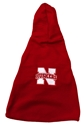 Dog Fleece with Hood Nebraska Cornhuskers, Nebraska Pet Items, Huskers Pet Items, Nebraska Dog Fleece with Hood, Huskers Dog Fleece with Hood