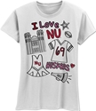 Girls Collage Short Sleeve White Tee Nebraska Cornhuskers, Nebraska  Youth, Huskers  Youth, Nebraska  Kids, Huskers  Kids, Nebraska Girls Collage Short Sleeve White Tee, Huskers Girls Collage Short Sleeve Tee