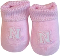 New Born Pink Booties Nebraska Cornhuskers, husker football, nebraska cornhuskers merchandise, nebraska merchandise, husker merchandise, nebraska cornhuskers apparel, husker apparel, nebraska apparel, husker infant and toddler apparel, nebraska cornhuskers infant and toddler apparel, nebraska kids apparel, husker kids apparel, husker kids merchandise, nebraska cornhuskers kids merchandise,Pink Booties