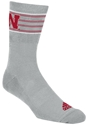 Adidas Iron N Heather Striped Sock Nebraska Cornhuskers, Nebraska  Ladies Underwear & PJs, Huskers  Ladies Underwear & PJs, Nebraska  Mens Underwear & PJs, Huskers  Mens Underwear & PJs, Nebraska  Footwear, Huskers  Footwear, Nebraska Adidas Iron N Heather Striped Sock, Huskers Adidas Iron N Heather Striped Sock