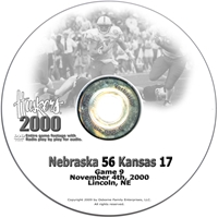 2000 Nebraska Vs Kansas Husker football, Nebraska cornhuskers merchandise, husker merchandise, nebraska merchandise, nebraska cornhuskers dvd, husker dvd, nebraska football dvd, nebraska cornhuskers videos, husker videos, nebraska football videos, husker game dvd, husker bowl game dvd, husker dvd subscription, nebraska cornhusker dvd subscription, husker football season on dvd, nebraska cornhuskers dvd box sets, husker dvd box sets, Nebraska Cornhuskers, 2000 Kansas