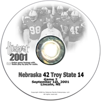 2001 Nebraska Vs Troy St Husker football, Nebraska cornhuskers merchandise, husker merchandise, nebraska merchandise, nebraska cornhuskers dvd, husker dvd, nebraska football dvd, nebraska cornhuskers videos, husker videos, nebraska football videos, husker game dvd, husker bowl game dvd, husker dvd subscription, nebraska cornhusker dvd subscription, husker football season on dvd, nebraska cornhuskers dvd box sets, husker dvd box sets, Nebraska Cornhuskers, 2001 Troy State