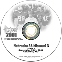2001 Nu Vs. Missouri Dvd Husker football, Nebraska cornhuskers merchandise, husker merchandise, nebraska merchandise, nebraska cornhuskers dvd, husker dvd, nebraska football dvd, nebraska cornhuskers videos, husker videos, nebraska football videos, husker game dvd, husker bowl game dvd, husker dvd subscription, nebraska cornhusker dvd subscription, husker football season on dvd, nebraska cornhuskers dvd box sets, husker dvd box sets, Nebraska Cornhuskers, 2001 Missouri