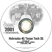 2001 Nebraska Vs Texas Tech Husker football, Nebraska cornhuskers merchandise, husker merchandise, nebraska merchandise, nebraska cornhuskers dvd, husker dvd, nebraska football dvd, nebraska cornhuskers videos, husker videos, nebraska football videos, husker game dvd, husker bowl game dvd, husker dvd subscription, nebraska cornhusker dvd subscription, husker football season on dvd, nebraska cornhuskers dvd box sets, husker dvd box sets, Nebraska Cornhuskers, 2001 Texas Tech